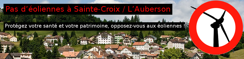 Pas d'éoliennes à  Sainte-Croix, L'Auberson, Les Gitaz.