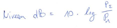 Calcul des dB